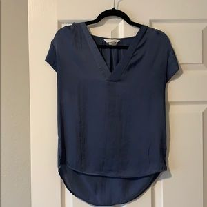 Beautiful H&M Conscious Silky Blue Top - Size 4